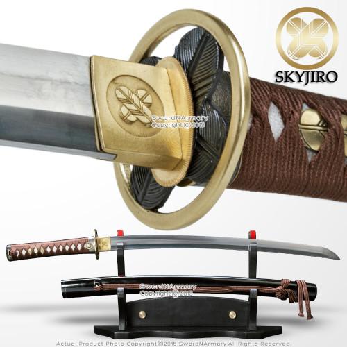 Skyjiro Taka Chigai Handmade 1070 Forge Folded Steel Samurai Wakizashi Sword