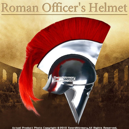 Corinthian Greek Spartan Helmet with Red Crest Roman Armor LARP Costume Armour