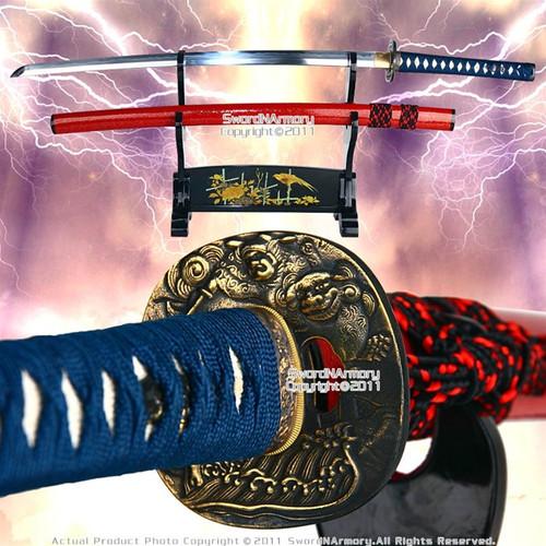 Musashi Handmade Folded Steel Damascus Katana Samurai Sword Heat Treated Blade