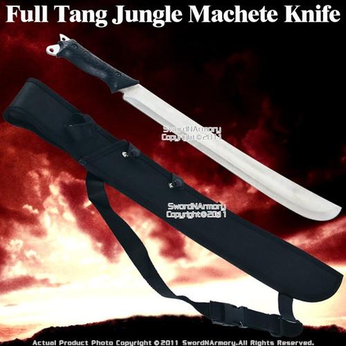 Full Tang Jungle Machete Sword Knife W/ Should Sheath