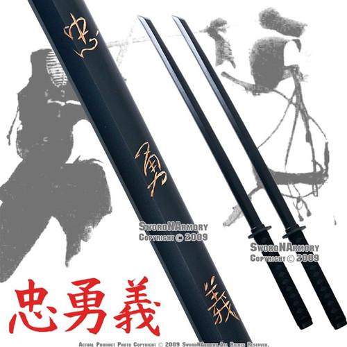 2 Pcs Loyalty Wooden Kendo Practice Bokken Katana Sword W/ Wrap