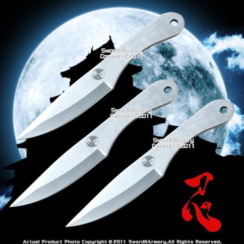 "3 PCS 6"" Cross Fire Stainless Steel Throwing Knife Sheath"