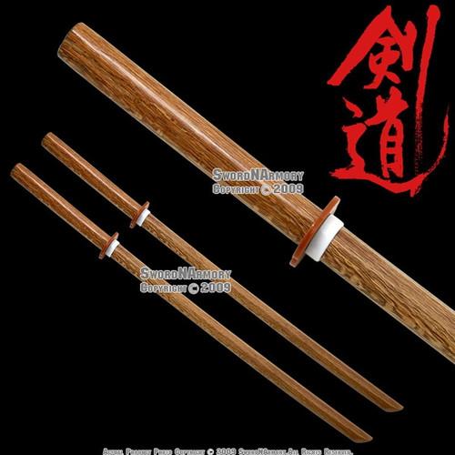 2 Pcs Daito Wooden Bokken Samurai Practice Sword Katana