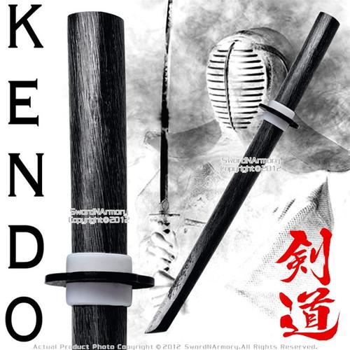 """Black 22"""" Wooden Practice Sword Wakizashi Bokken Bokuto Kendo Kata"""