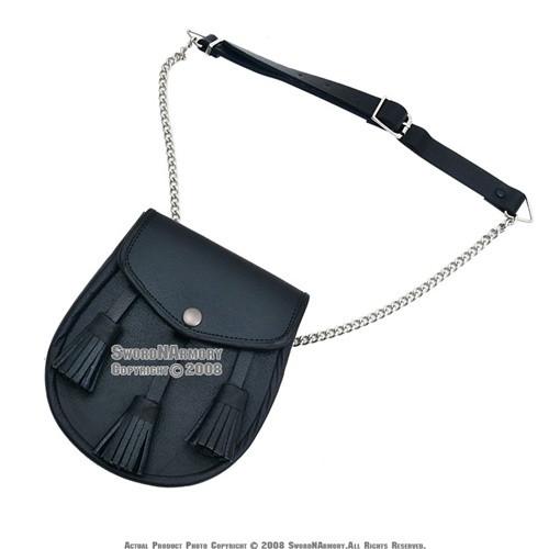 Renaissance Scottish Medieval Leather Sporran Pouch Bag