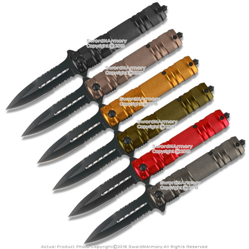 Stiletto Tactical Assisted Opening Folding Pocket Knife with Glass Breaker