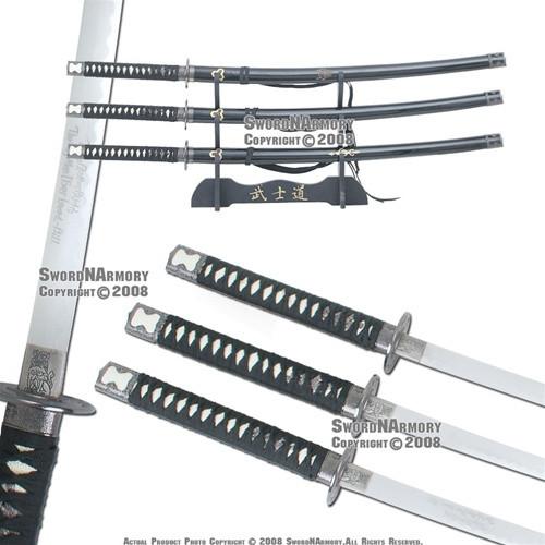 Kill Bill Complete Selection Bride Budd 3Pcs Katana Samurai Sword Movie Replica