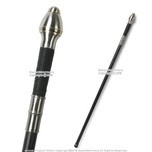 "37"" Mitre Handle Walking Stick Gentleman's Cane Metal Shaft"