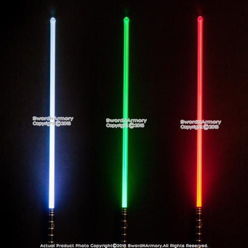 """47"""" 3 Colors Light Saber Toy Sword Anodized Aluminum Handle 180 Lumen RGB LED"""