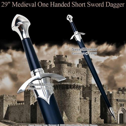 One Handed Medieval Crusader Knight Arming Short Sword