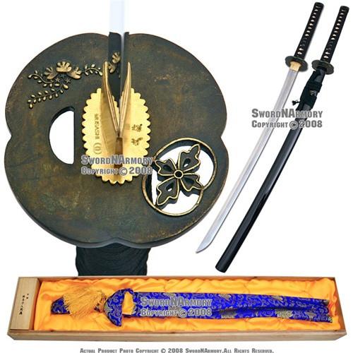 Musashi Brand Handmade Forged Kobuse Laminated Samurai Katana Sword Razor Sharp