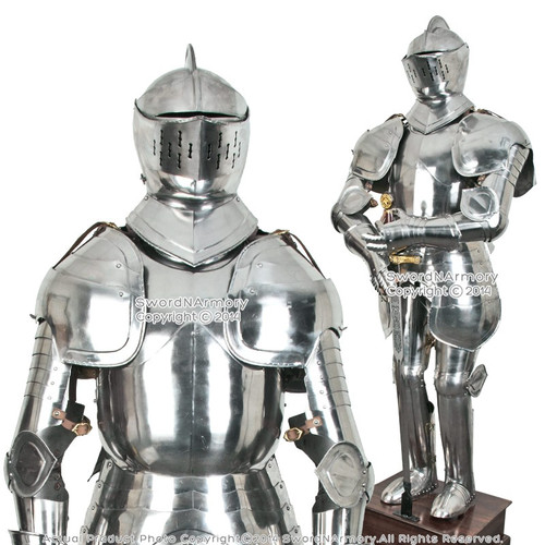 Stainless Steel Duke of Burgundy Full Suit of Armor Medieval Knight Wearable