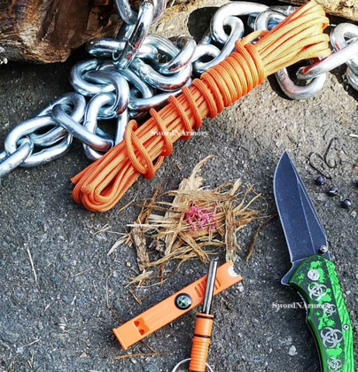 How to Wrap a Paracord Around a Knife Handle