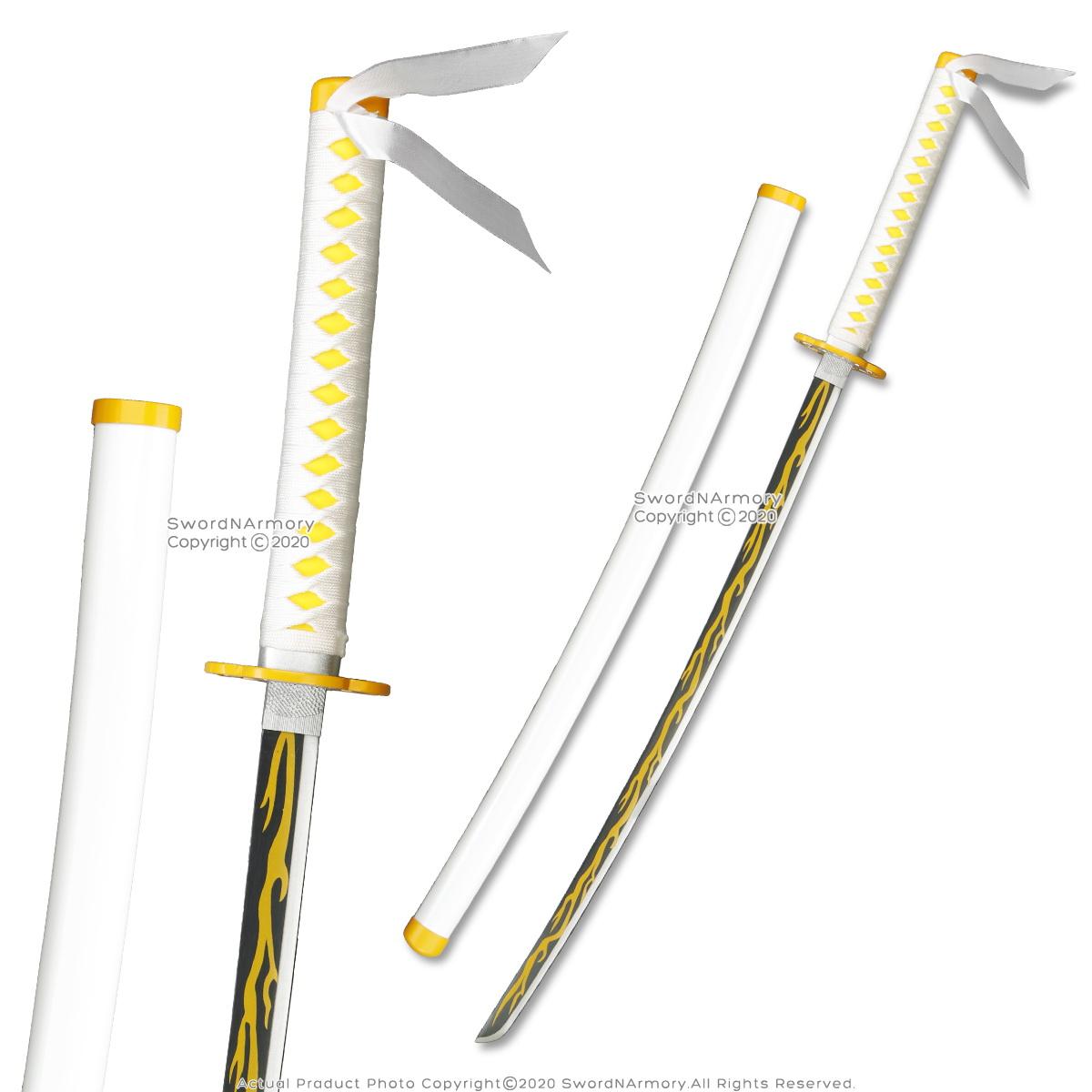 "41/"" Foam LARP Cosplay Anime Demon Inosuke Hashibira Sword w// Scabbard Costumes"