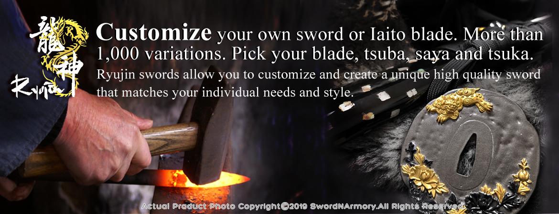 Ryujin Customizable Handmade Sword