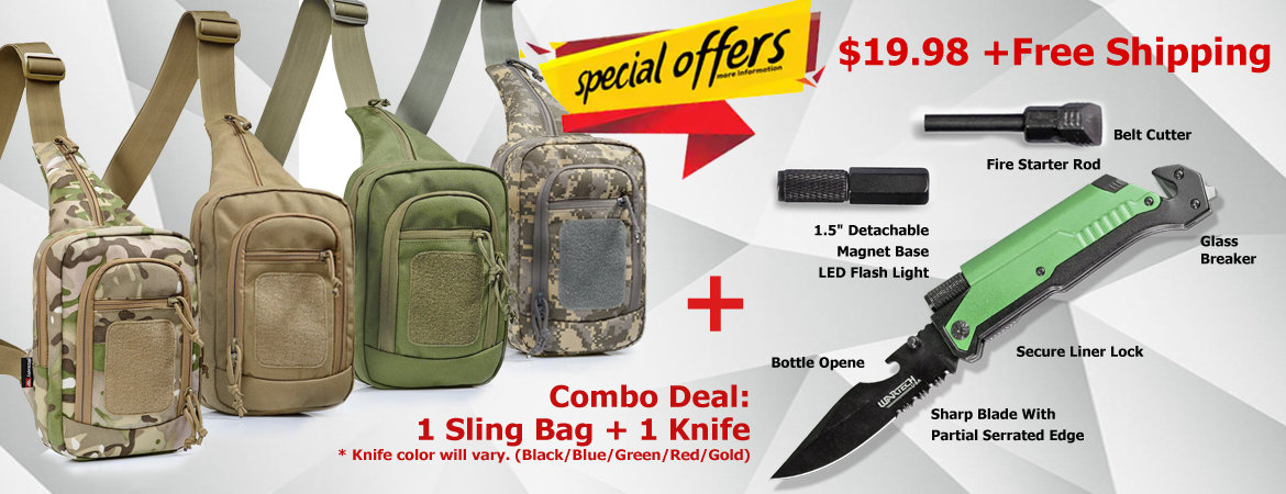 Outdoor Tactical Backpack Combo