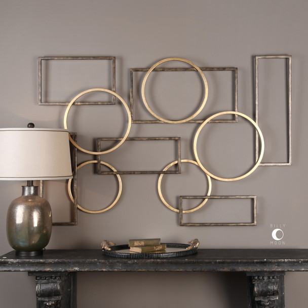 Uttermost Elias Bronze And Gold Wall Art