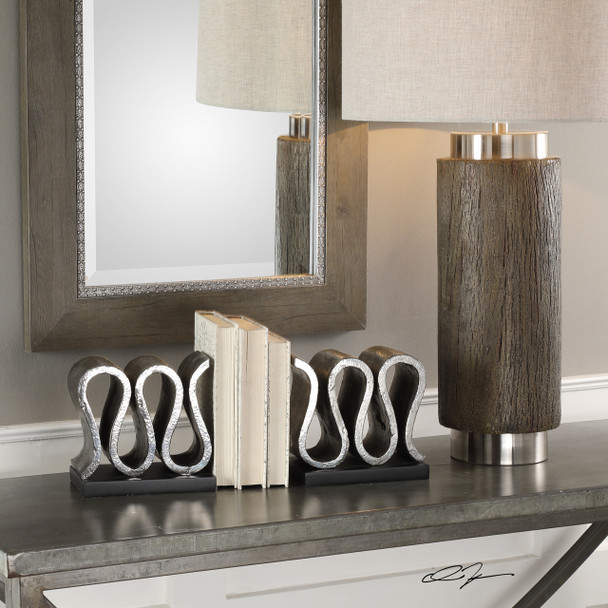 Uttermost Kylo Forged Silver Bookends S/2