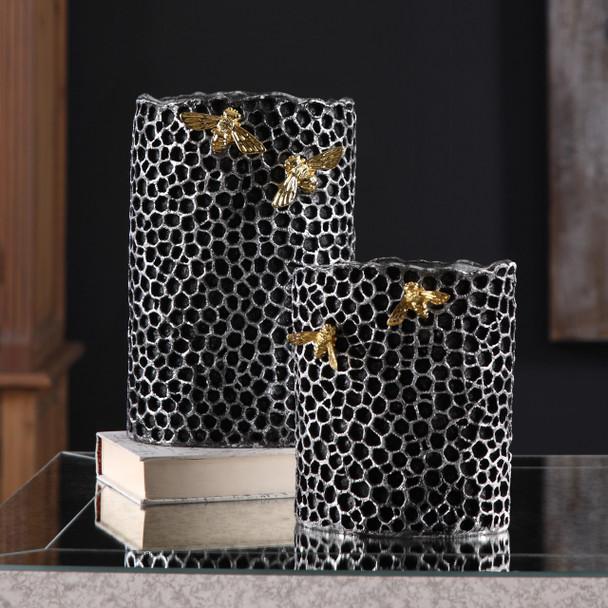 Uttermost Hive Vases S/2