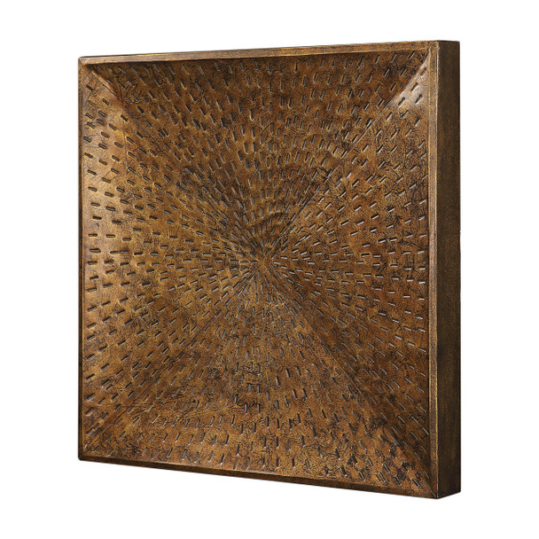 Uttermost Blaise Antiqued Bronze Wall Art