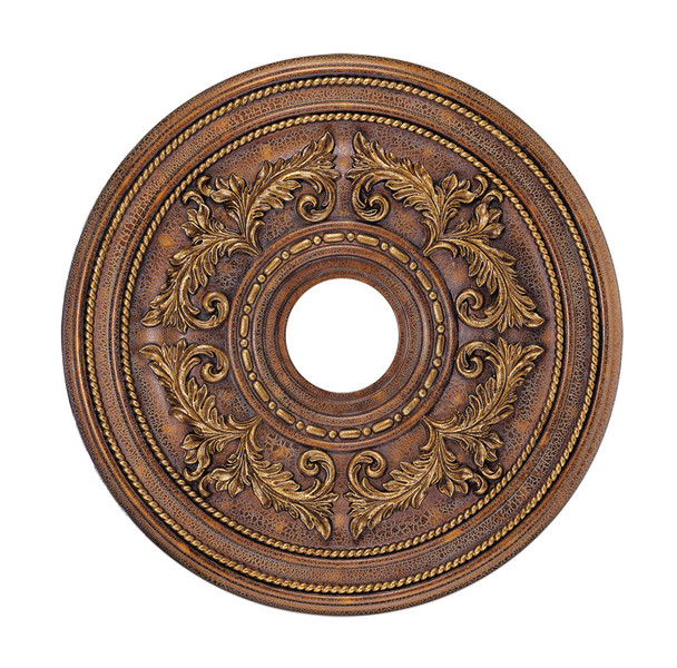 Livex Lighting Crackled Greek Bronze Ceiling Medallion - 8200-30
