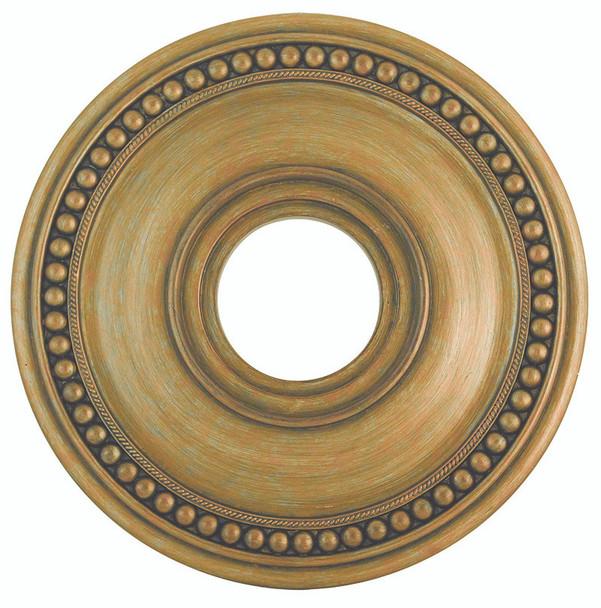 Livex Lighting Antique Gold Leaf Ceiling Medallion - 82073-48