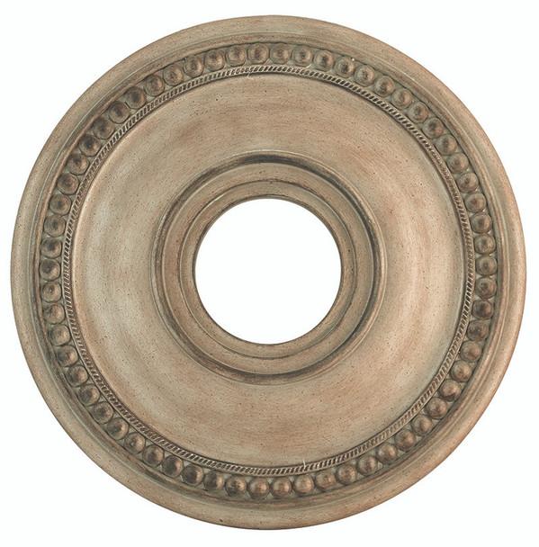 Livex Lighting Antique Silver Leaf Ceiling Medallion - 82073-73