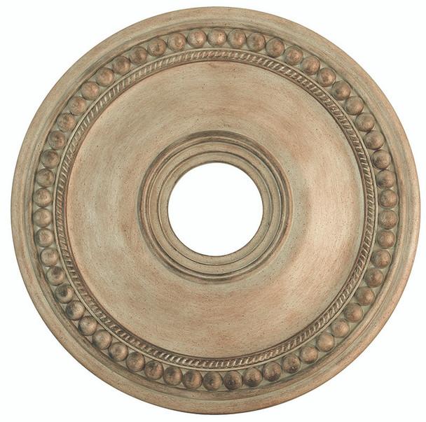 Livex Lighting Antique Silver Leaf Ceiling Medallion - 82074-73