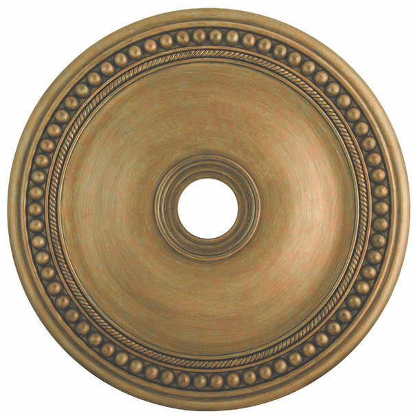 Livex Lighting Antique Gold Leaf Ceiling Medallion - 82076-48
