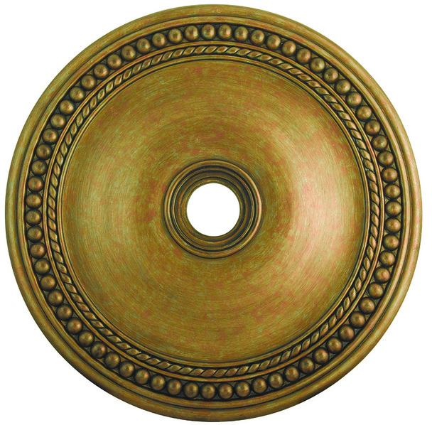 Livex Lighting Antique Gold Leaf Ceiling Medallion - 82077-48