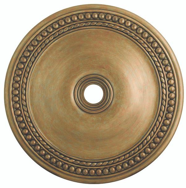 Livex Lighting Antique Gold Leaf Ceiling Medallion - 82078-48