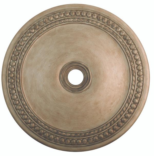Livex Lighting Antique Silver Leaf Ceiling Medallion - 82078-73