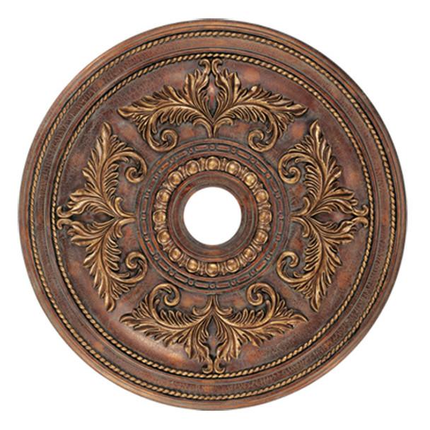 Livex Lighting Crackled Greek Bronze Ceiling Medallion - 8210-30