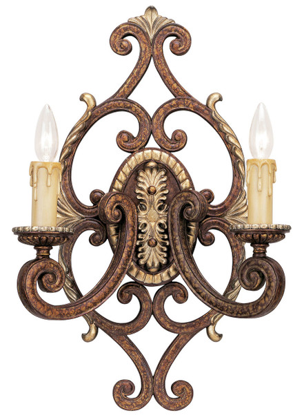Livex Lighting 2 Light Pbz Wall Sconce - 8862-64