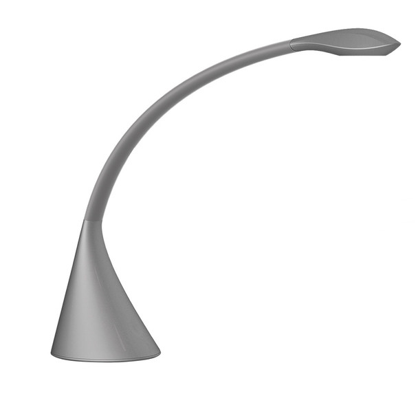 Eglo 1x6w Led Desk Lamp W/ Metalic Grey Finish & Usb Port - 202174A