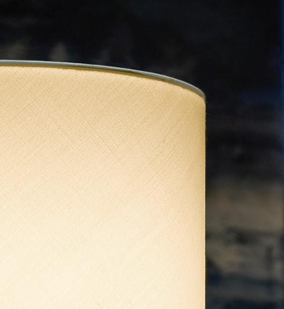Eglo 1x60w Table Lamp W/ Aluminum Finish & Cream Fabric Shade - 82811A