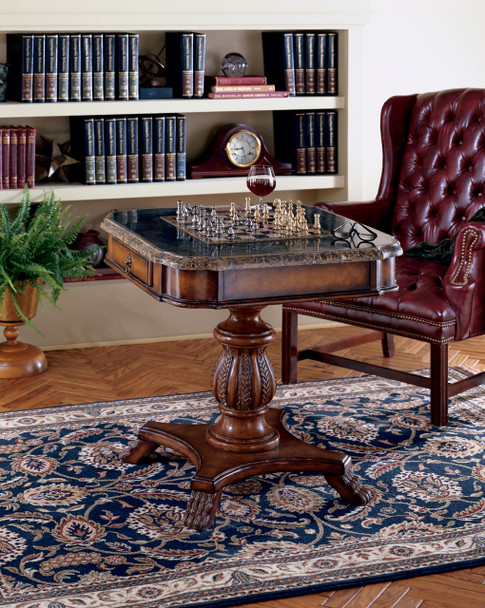 Butler Carlyle Fossil Stone Game Table