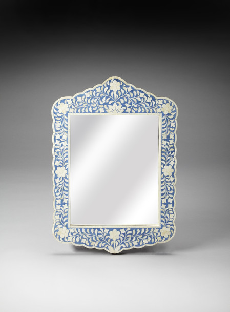 Butler Vivienne Blue Bone Inlay Wall Mirror