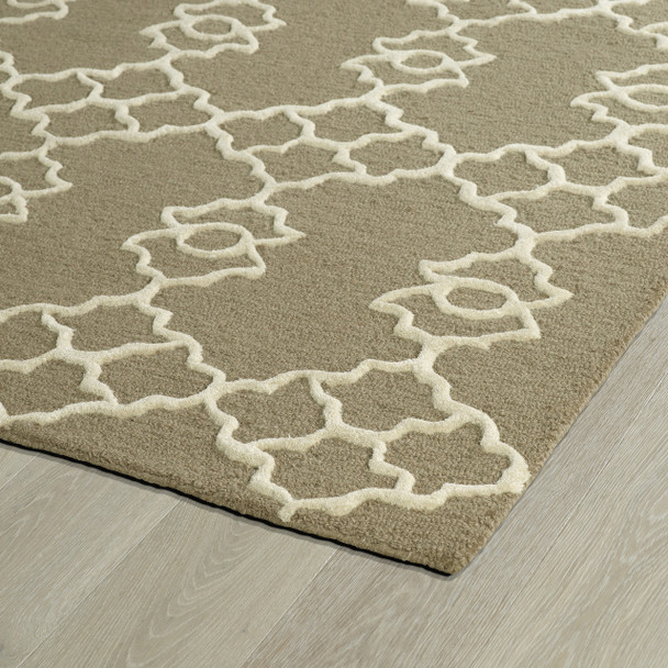 Kaleen Spaces Hand Tufted Spa08-82 Light Brown Area Rugs