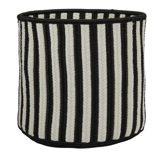 Colonial Mills Baja Stripe Basket Bj03 Black Baskets