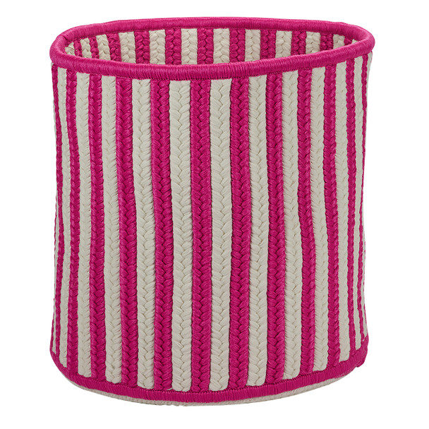 Colonial Mills Baja Stripe Basket Bj13 Magenta Baskets