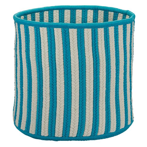Colonial Mills Baja Stripe Basket Bj23 Teal Baskets