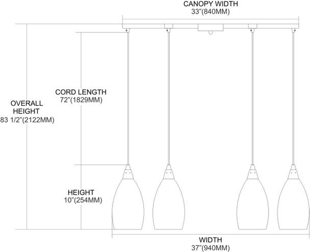 ELK Lighting Geologic 6-Light Pendant - 10077/6