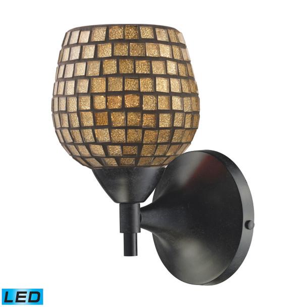 ELK Lighting Celina 1-Light Sconce - 10150/1DR-GLD-LED