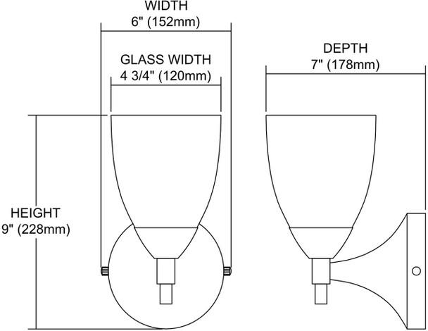 ELK Lighting Celina 1-Light Sconce - 10150/1DR-M