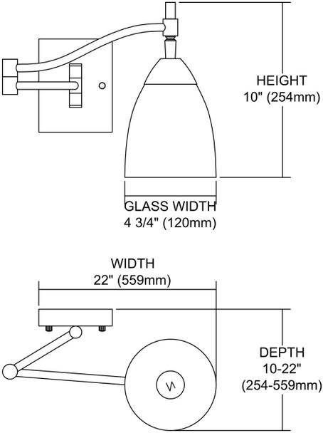 ELK Lighting Celina 1-Light Sconce - 10151/1PC-WS