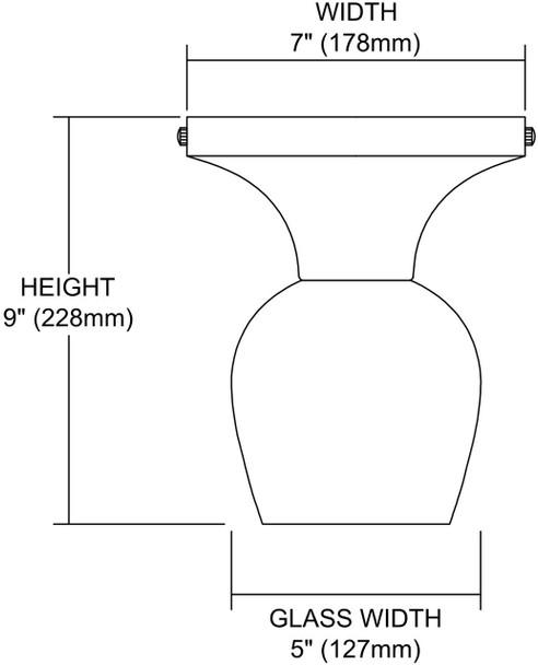 ELK Lighting Celina 1-Light Semi Flush Mount - 10152/1DR-MLT