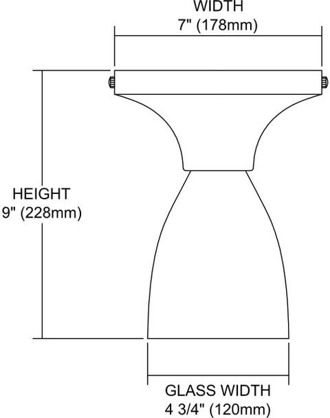 ELK Lighting Celina 1-Light Semi Flush Mount - 10152/1PC-BL