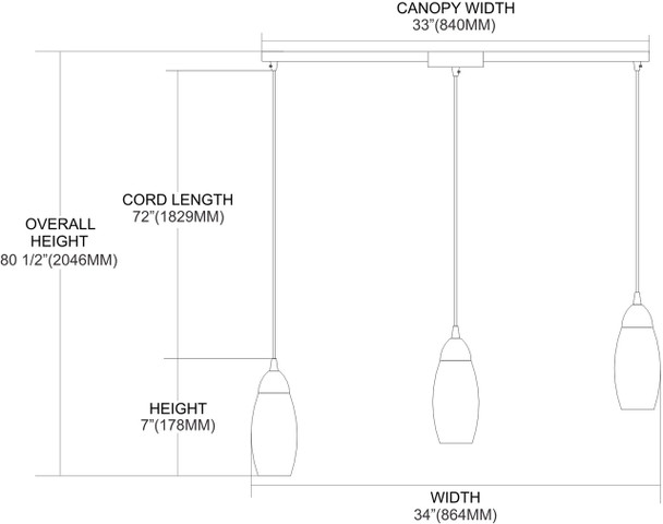 ELK Lighting Milan 3-Light Mini Pendant - 110-3L-SW