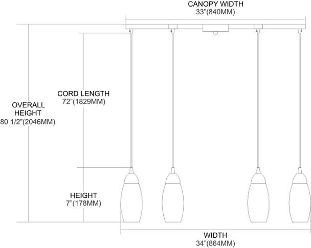 ELK Lighting Milan 6-Light Pendant - 110-6BL